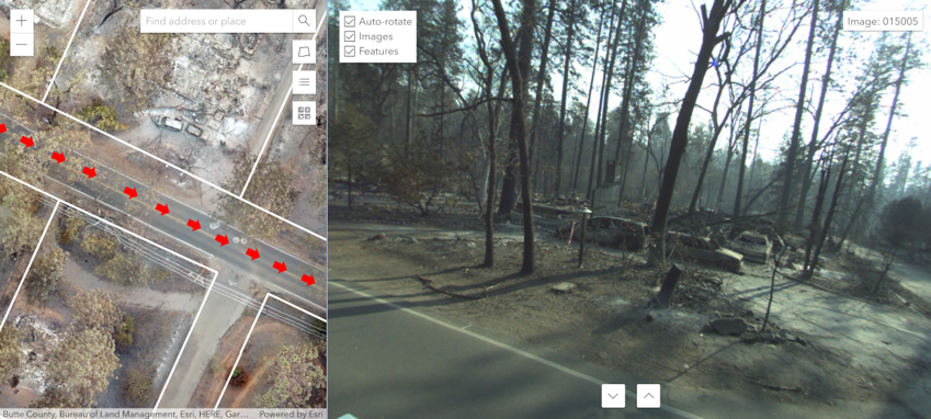 Emergency Response Mapping by GeoCam 360 Images